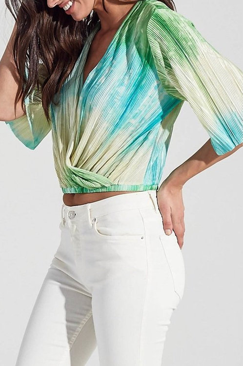 Tie and dye wraped top