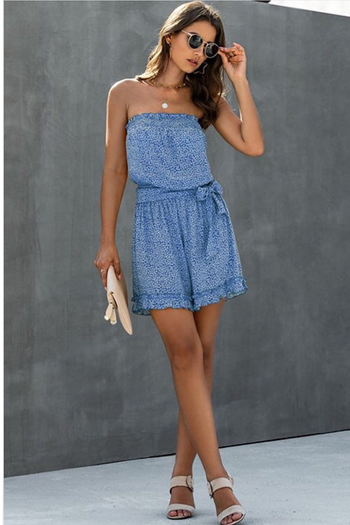 Casual jumpsuit with belt