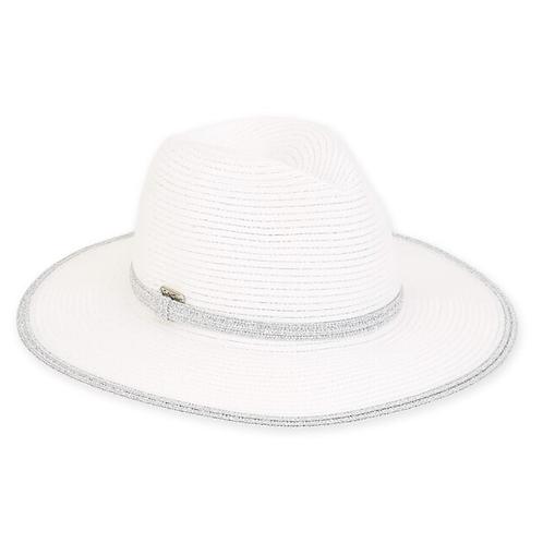 Poly braid hat - silver