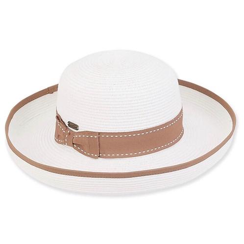 Paper braid hat w/ bow