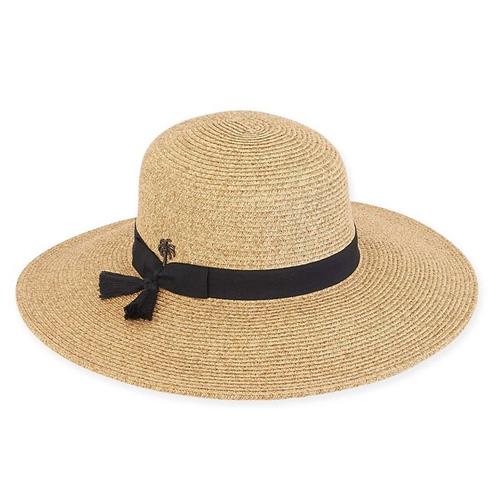 Paper braid hat- wide brim