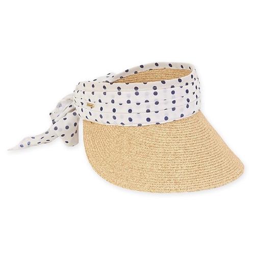 Paper braid natural visor