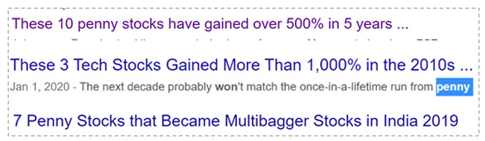 Misleading headlines on penny stocks