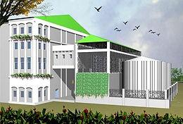 ELEVATION FOR CONTROL ROOM , BLDG FOR 100 KLPD PLANT