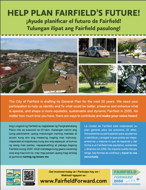 Fairfield 2040 General Plan Update Poster