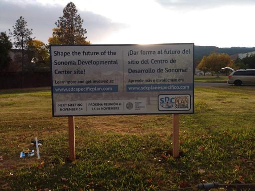 Sonoma Developmental Center On-site Poster