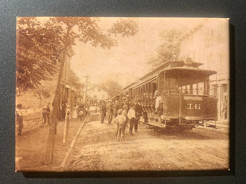 West Main Street Trolley c1910 Refrigerator Magnet