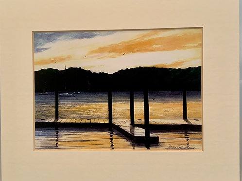 Patrica Broun Watercolors:  Hudson River @ Chelsea