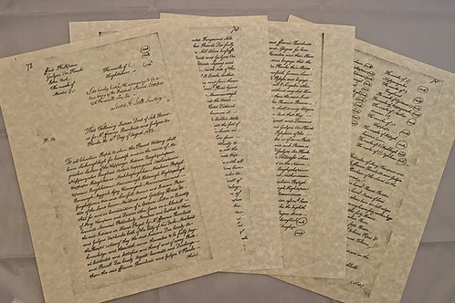 """Wappinger Indian Deed of 1683 Replica - 8 1/2""""x 11"""" size"""