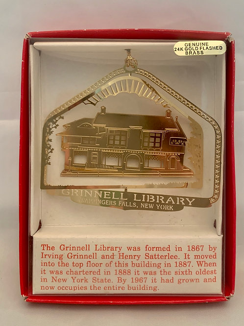 Grinnell Library Christmas Ornament