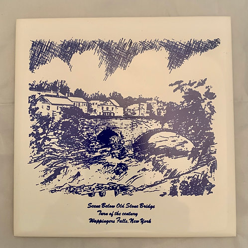 Tile Trivet - Old Stone Bridge Wappingers Falls