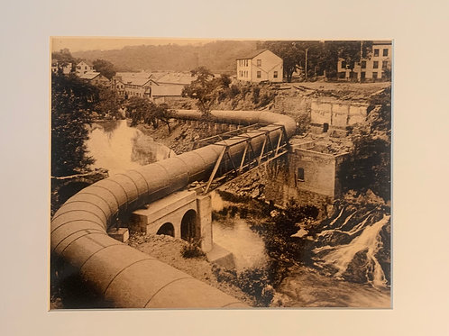 Renee Ellis Vintage Views: Garner Flume Below Bridge