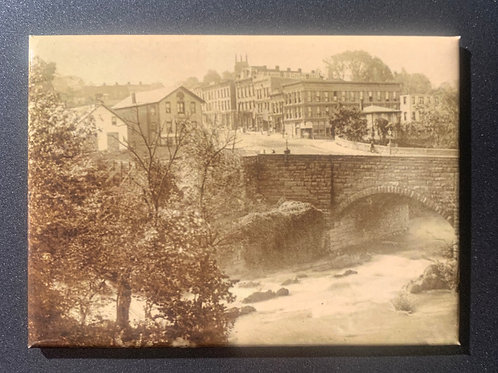 Stone Bridge & Village of Wappingers Falls Refrigerator Magnet