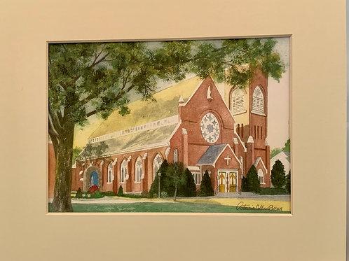Patrica Broun Watercolors:  St. Mary's Church