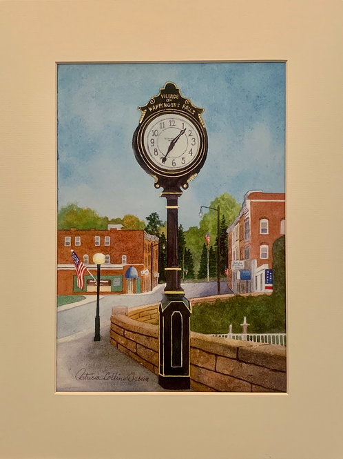 Patrica Broun Watercolors:  Wappingers Falls Clock