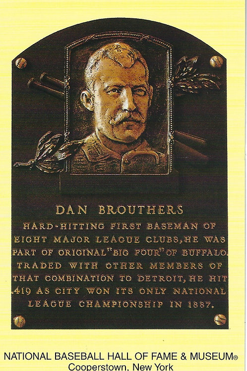 Dan Brouthers Hall of Fame Plaque Postcard