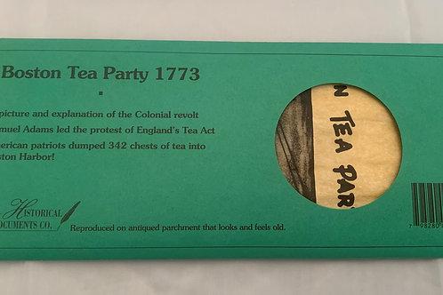 Boston Tea Party (GREEN)  Document Replica