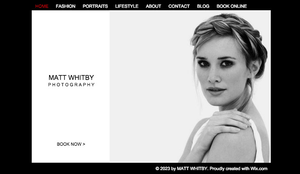 Photography website templates –  Photo Studio
