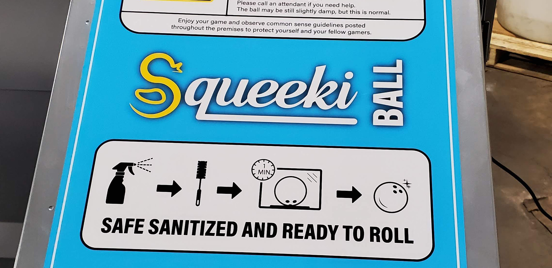 Squeeki Ball Front Label