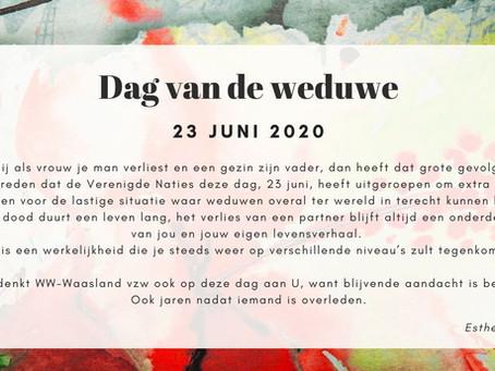 23 juni 2020 - Dag van de weduwe