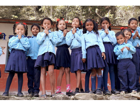 Le projet de la cantine scolaire à l'école 'Shree Siddhartha Basic'