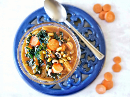 Masala Spiced Lucky Carrots & Black Eyed Peas