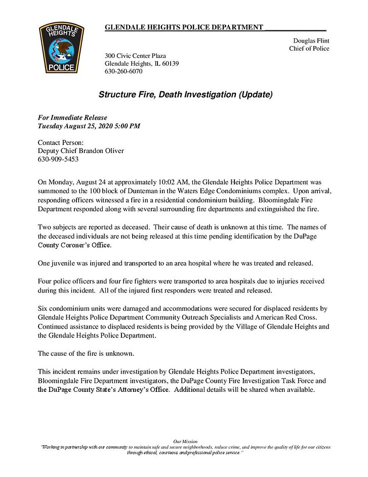 GH Press Release_Structure Fire_082420_J