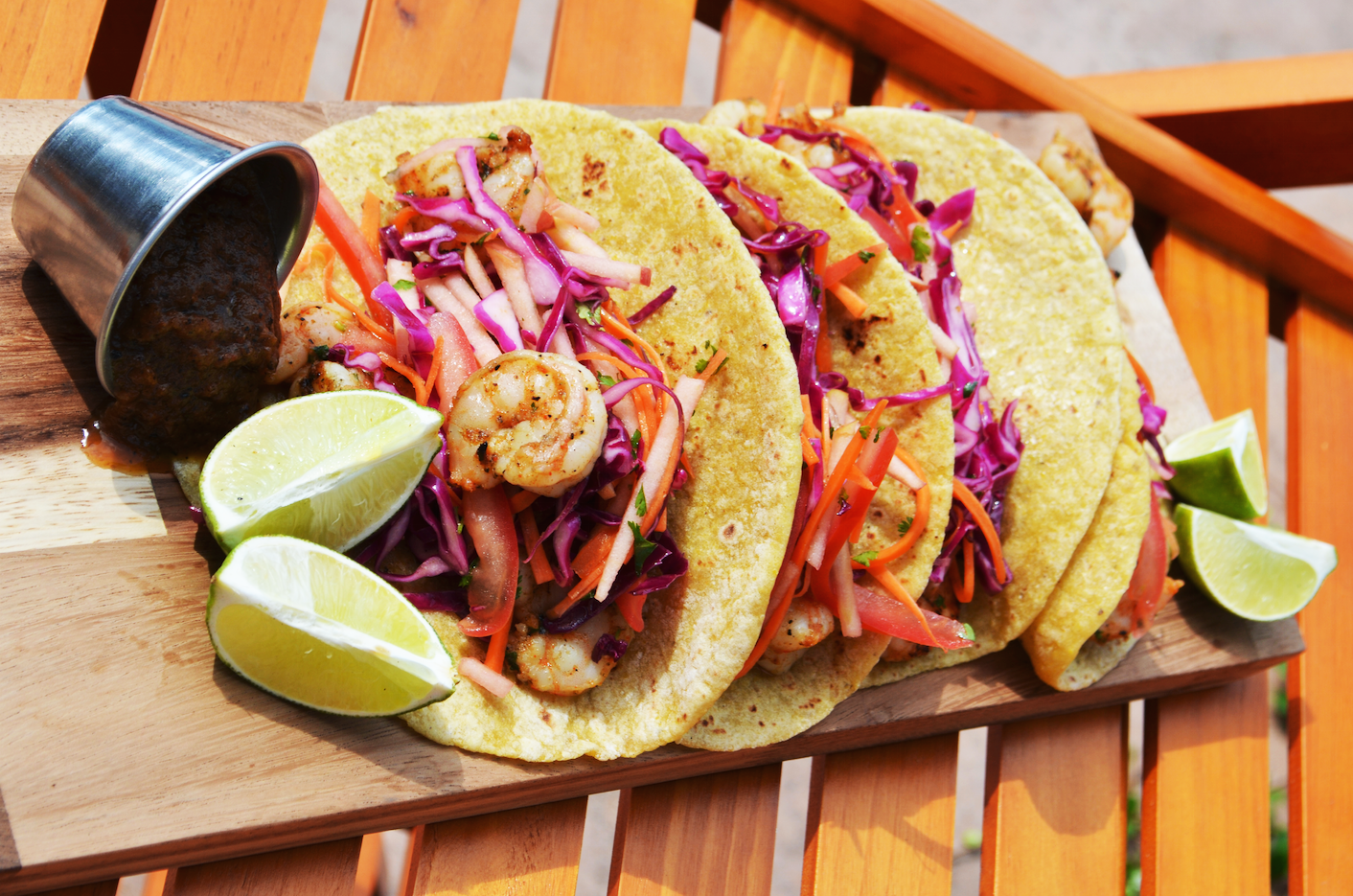 Medicated Shrimp Tacos with Coleslaw by FOX & NUG