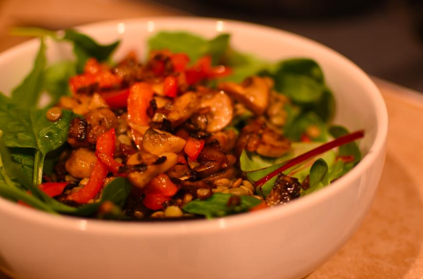 marijuana infused lentil salad