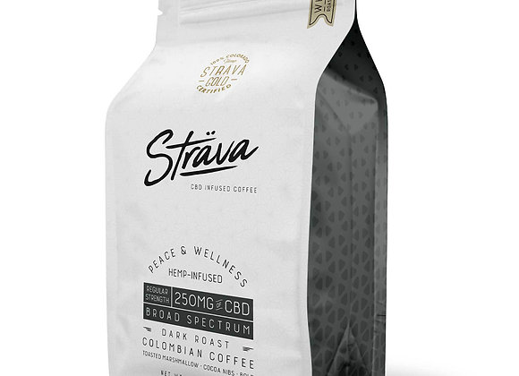 STRAVA CBD COFFEE - 10MG CBD/SERVING - DARK ROAST