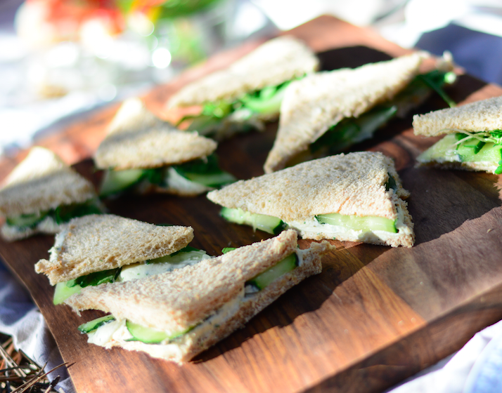 marijuana infused tea party sandwiches