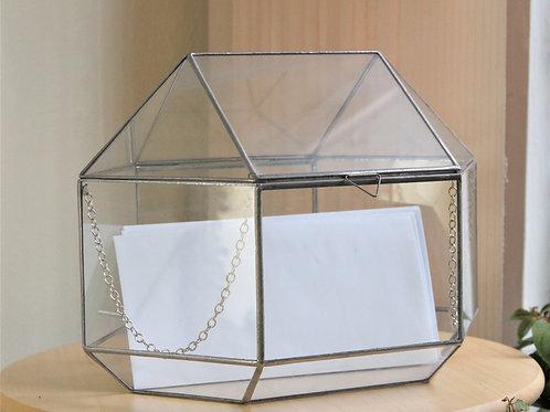 wedding box, wedding card box, свадебный ларец купить, большой свадебный сундук из стекла, шкатулка для денег на свадьбу,