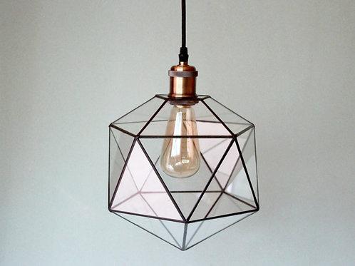 лампа лофт, лофт, светильник лофт, подвесной светильник из стекла, геометрическая лампа