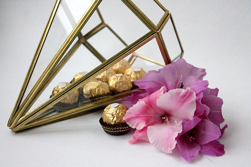 золотая ваза, золотой флорариум, флорариум латунь