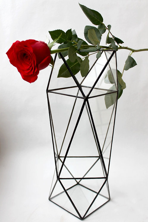 ваза витражная, ваза из стекла, ваза лофт