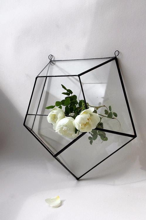 Флорариум геометрический Звезда настенная, ваза для флорарариума