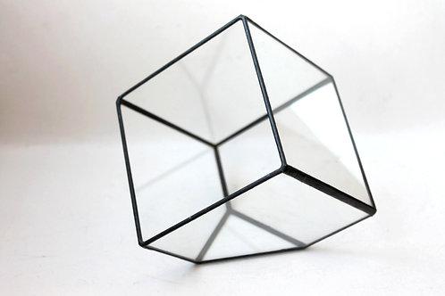 Флорариум куб, ваза для флорариума, грань 20 см