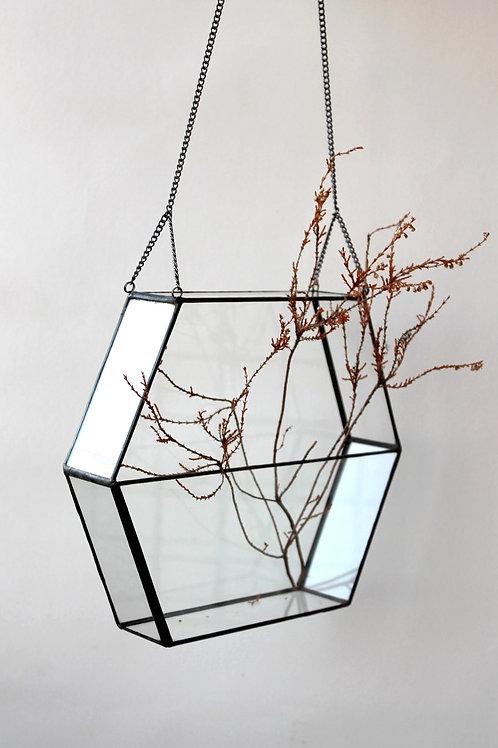Флорариум геометрический Шестигранник Сота подвесной с цепью