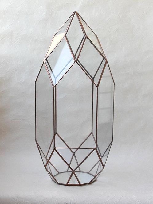 большой флорариум, ваза для орхидариума, флорариум медный