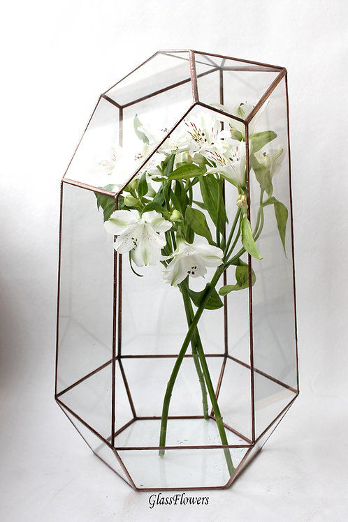 glassflowers, terrarium, florarium, wedding decor, флорариум, медный флорариум, орхидариум