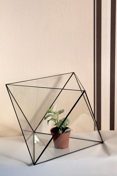 большой флорариум, флорариум напольный, октаэдр, ваза для флорариума, флорариум купить
