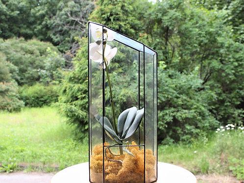 орхидариум, ваза для флорариума, большой подсвечник купить, ваза для орхидеи, орхидариум террариум купить в спб