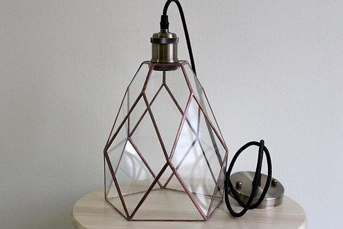 лампа лофт, подвесной светильник, геометрическая лампа лофт, лампа тиффани, loft, glass flowers,