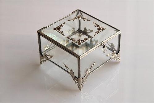свадебная шкатулка, коробочка для колец, стеклянная шкатулка, шкатулка тиффани, свадебная шкатулка, шкатулка купить спб