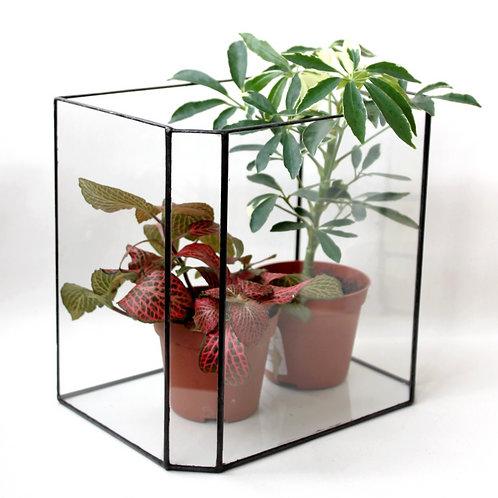 флорариум большой, флорариум геометрический, подсвечник витражный