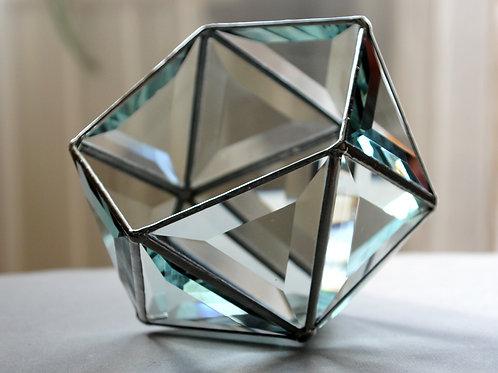 шкатулка для колец, фацетная шкатулка, геометрическая шкатулка тиффани