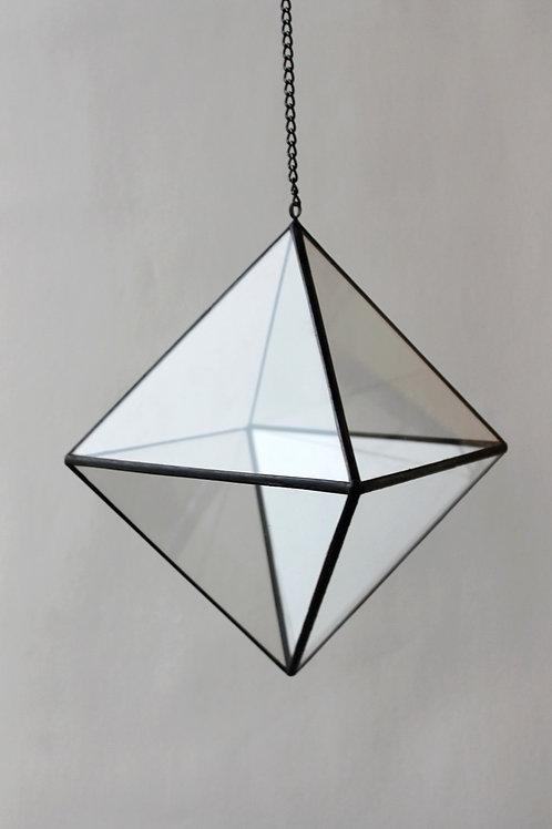 Флорариум геометрический Октаэдр средний подвесной, ваза для флорарариума