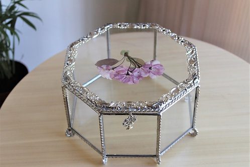 wedding card box, wedding box, glass box, свадебная шкатулка купить, шкатулка тиффани стекло филигрань купить спб