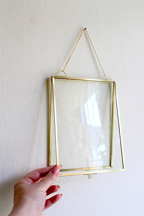 рамка для фото, гербарий, herbarium, рамка для гербария, свадебная рамка для фото, латунная рамка, золотая рама
