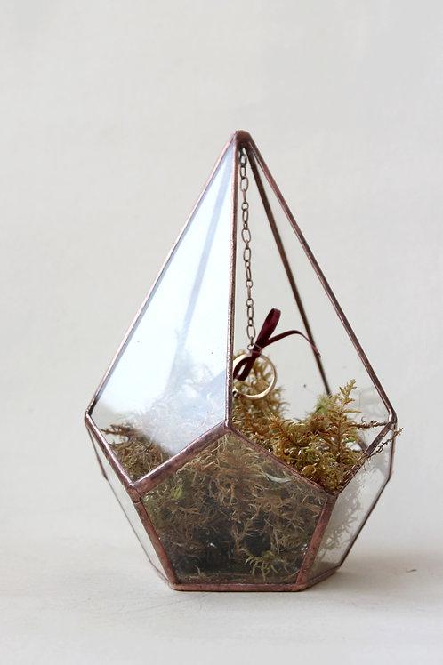 Форма для подарка, флорариум, капля, d-13,5 см, медь